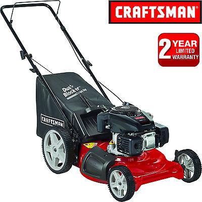 """Craftsman 21"""" Rear Bag Push Lawn Mower + Mulcher w/ Kohler 149cc OHV Gas Engine"""