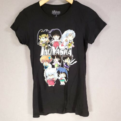 "Womens Original 2009 INUYASHA Japanese Anime Manga Black Shirt Med 35"" Chest"