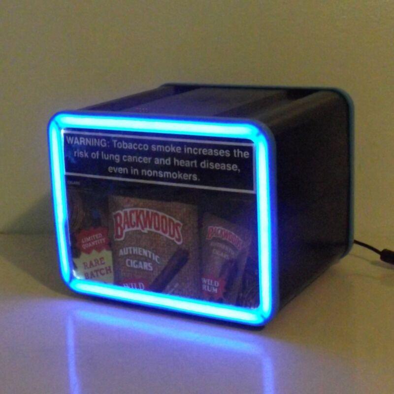 Backwoods Cigar Wild Rum Rare Batch Lighted Display Box Countertop