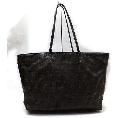 Authentic Fendi Tote Bag Zucca Other Brown  834073