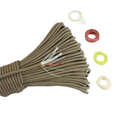 PSKOOK Survival Paracord Parachute Fire Cord Survival Ropes Red Tinder Cord PE](Pe Parachute)