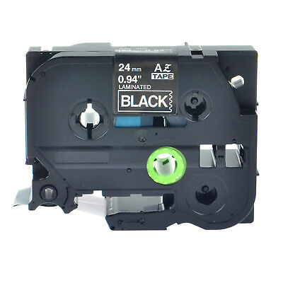 Laminated White On Black Label Tape For Brother P-touch Pt-p700 24mm Tz Tze 355