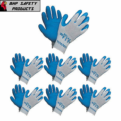 Atlas Fit 300 Showa-best Latex Palm Blue Large Rubber Work Gloves 1 Dozen