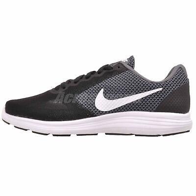 Nike Revolution 3 WIDE 819302-001 Black Grey White Women's Running Shoes