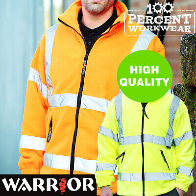 Pro Trade Top Quality High Visibility Full Zip Fleece Jacket Warm Hi Viz Vis New