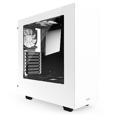 Nzxt S340 Mid Tower Case - Mid-tower - Glossy White - Steel, Acrylonitrile