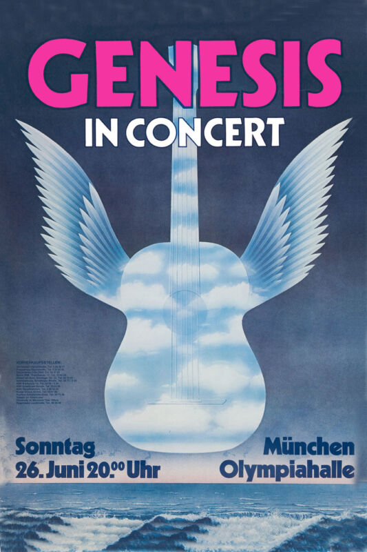 Phil Collins & Genesis at Germany Concert Poster 1977