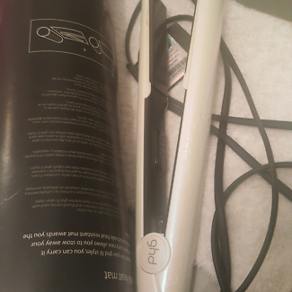 GHD Hair Straightener white bling with box
