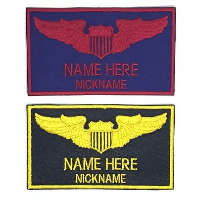 Top Gun Custom Name and Nickname Embroidered Iron on Patch Air Force Iron on