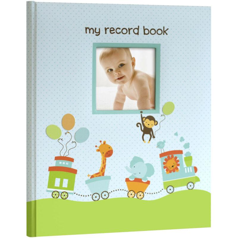 MY BABY FIRST MEMORIES BOOK - LIL PEACH BOYS BLUE TRAIN - KEEPSAKE RECORD ALBUM