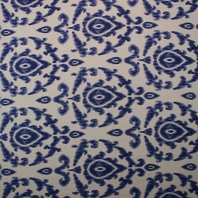 BALLARD DESIGNS AMAL BLUE SUNBRELLA IKAT OUTDOOR FURNITURE FABRIC BY YARD 54