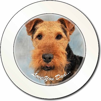 Welsh Terrier Dog 'Love You Dad' Car/Van Permit Holder/Tax Disc Gift, DAD-136T