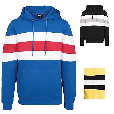 Urban Classics Chest Stripe Hoody Jacke Streifen Kapuzenpulli Hoodie Sweatjacke  ()