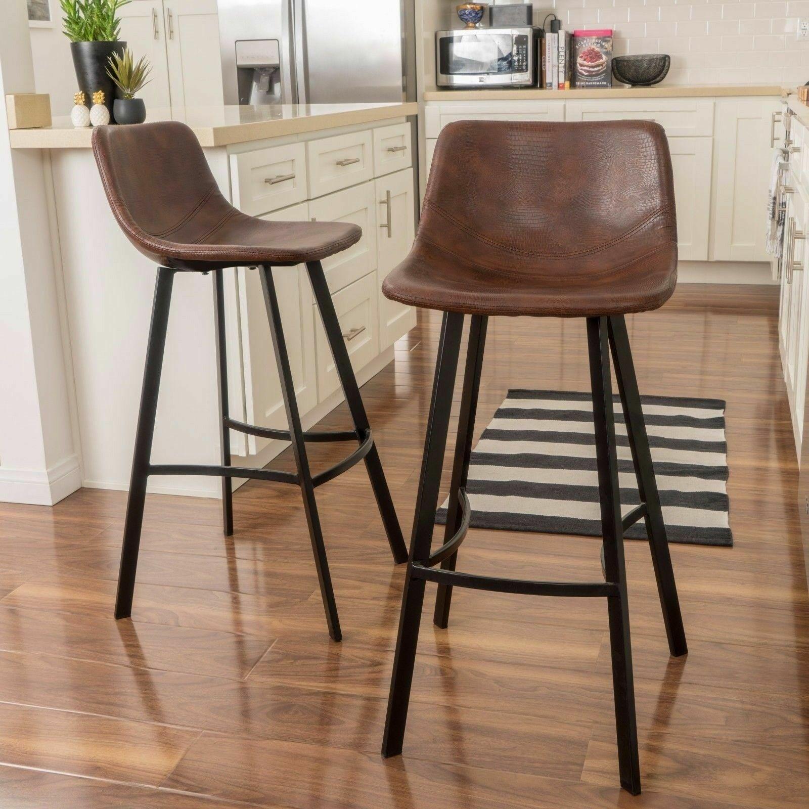 Rex Modern Upholstered Bar Stool (Set of 2) Benches, Stools & Bar Stools