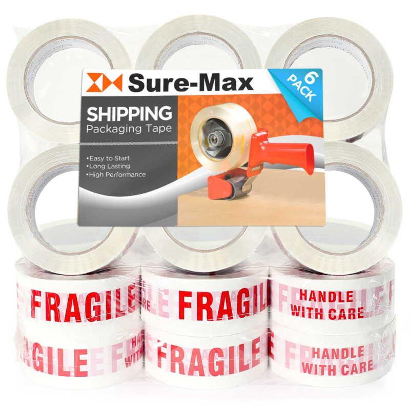 "18 Rolls ""Fragile - Handle w/ Care"" Printed Tape (2""x110 yard/330"