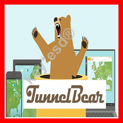 Tunnelbear Vpn    Lifetime    6 5 Gb Per Month    5 Devices    Fast Delivery