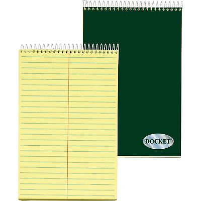 Tops Steno Pad Gregg Ruled 100 Sheets 6x9 Canary Paper 63851