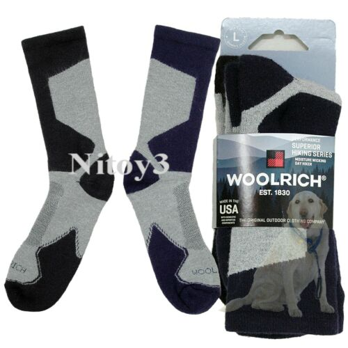 Woolrich Technical Hiking Socks - 2/Pack Men Large: 9-12   (T)