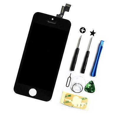 Iphone 5 Touchscreen (iPhone 5S SE Display Reparaturset Ersatz LCD Touchscreen Bildschirm Schwarz)