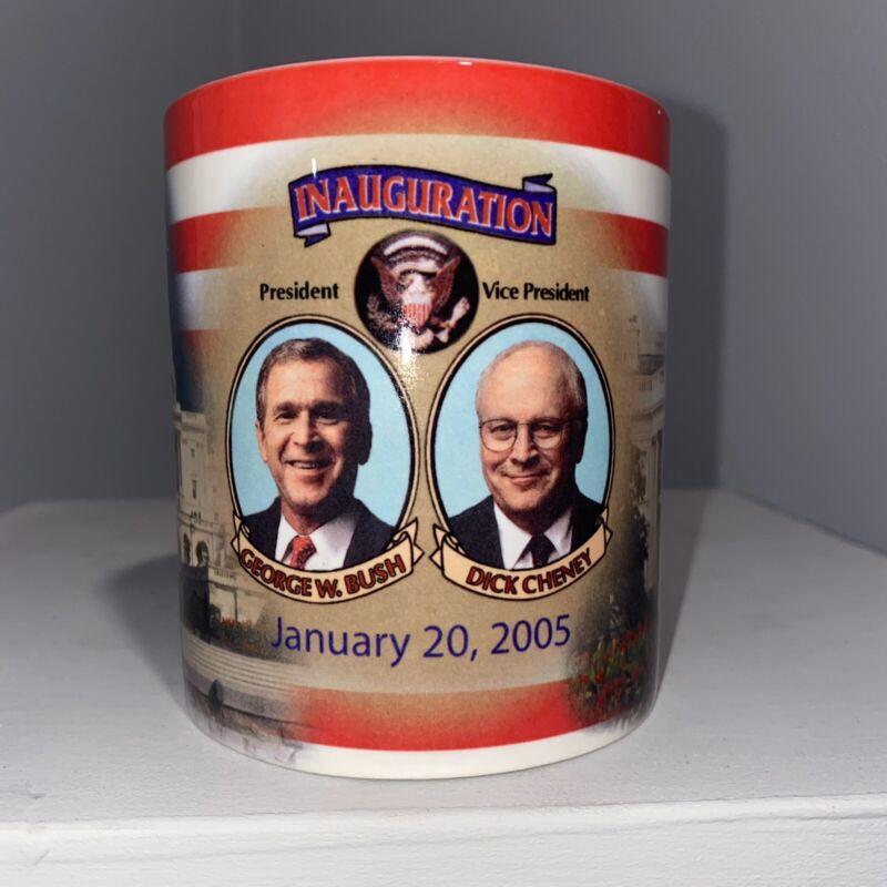 George Bush Dick Cheney 2005 Inauguration Mug White House W/Capitol Building