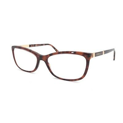 Versace 3186 Brown Womens Prescription Glasses Frame Eyeglasses 4D4
