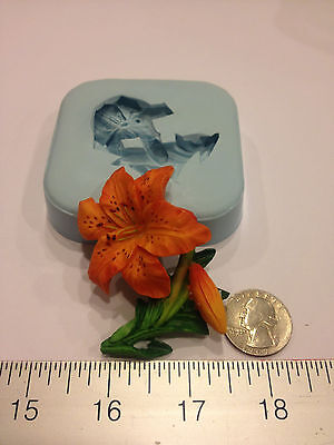 LILY FLOWER SILICONE MOLD #117 VALENTINE DAY, CANDLE, SOAP, RESIN, CRAFT,FAVORS