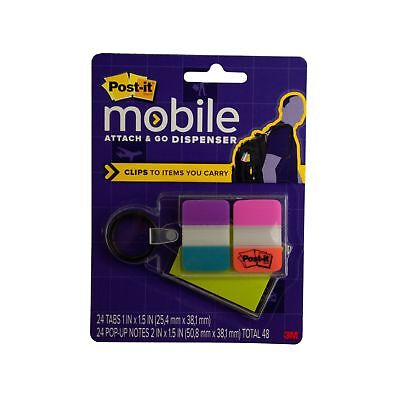 Kole Imports Post-it Notes Tabs Attach Go Clip-on Dispenser Ol208