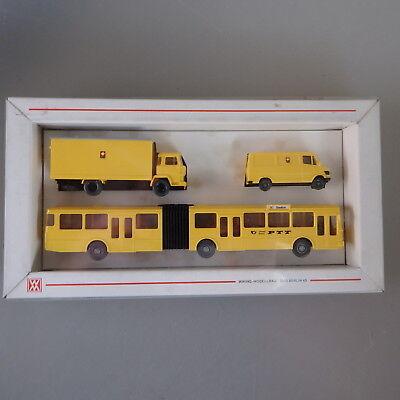 Wiking Packung 1984 Schweizer Post PTT  Bus Schild Stadion (52134)