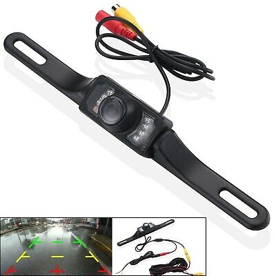 License Plate Car Rear View Reverse Backup Camera Night Vision Waterproof 8LED