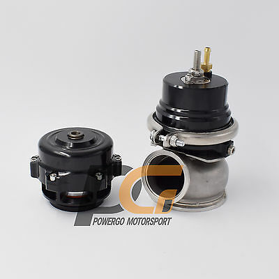 Universal Blow-off Valve BOV V-Band 50mm + External Wastegate WG 60mm BLACK