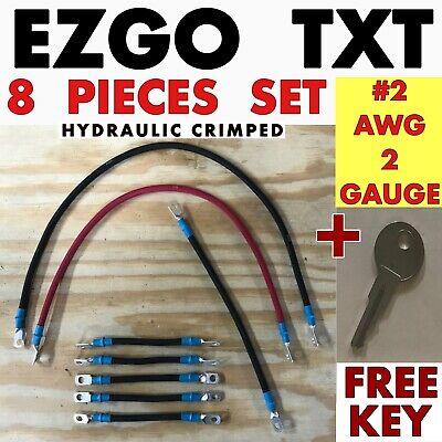 EZGO Golf Cart Battery Cables Set 2 Gauge for TXT