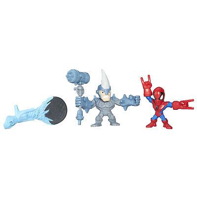 Marvel Super Hero Mashers Micro Spider-Man and Marvel's Rhino 2 Pack
