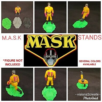 MASK custom stands kenner action figure toy vintage collectible display 80s