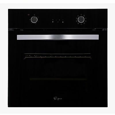 "24"" Tempered Glass Electric Built-in Single Wall Oven 2800W 220V"