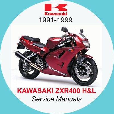 KAWASAKI ZXR400 (1991 - 1999) Covers H1, H2, L1, L2, L3, L4 SERVICE MANUAL (A1)