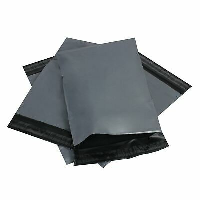 2000 x Plastic Strong Packaging Postal Polythen Grey Mail Bag 13x19 inch/33x48cm
