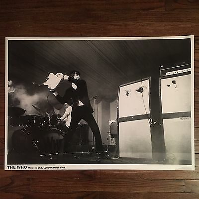 THE WHO poster--LONDON 1967--vintage photo PETE TOWNSHEND smashing guitar--NEW