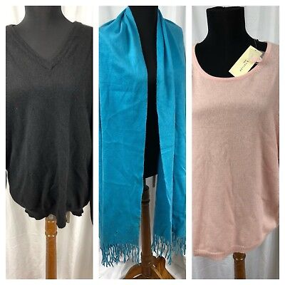 Pure Cashmere Cutter Lot - For Crafter, Sewing Project, Upcyle, Recycle Damaged