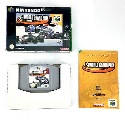 Nintendo 64 F1 World Grand Prix N64 Boxed Cartridge Game PAL Formula 1 Racing