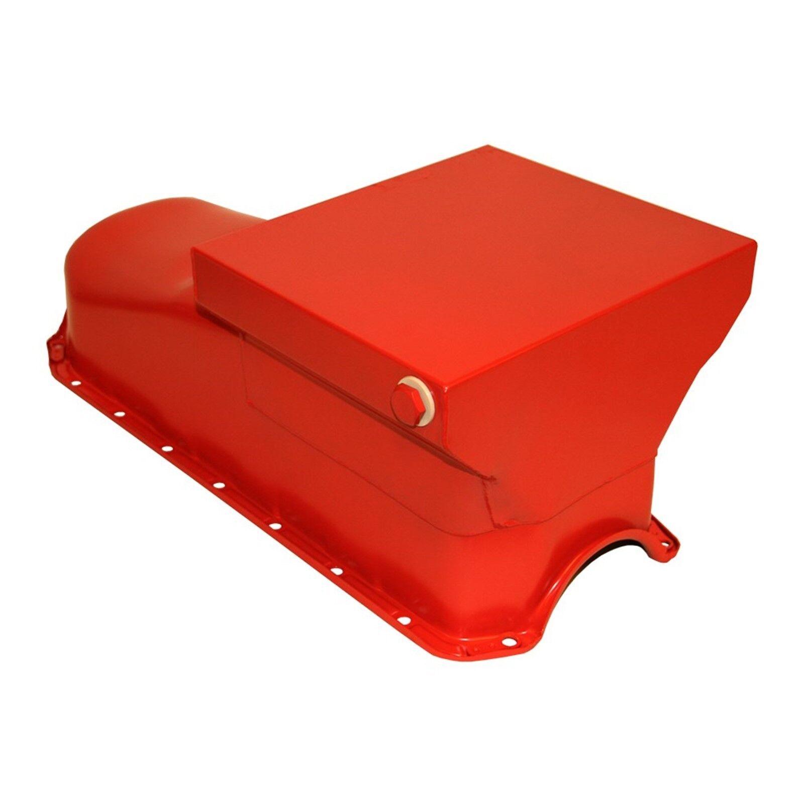 Orange Drag Race Style Oil Pan 7qt - 58-79 SBC Chevy 283 327 350 400 Small Block