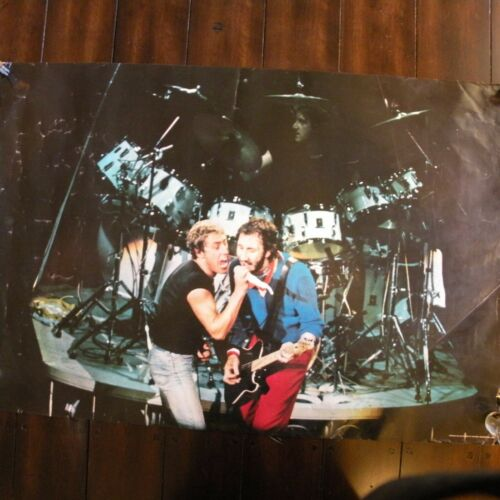 RARE 1980 THE WHO CONCERT POSTER #P8006
