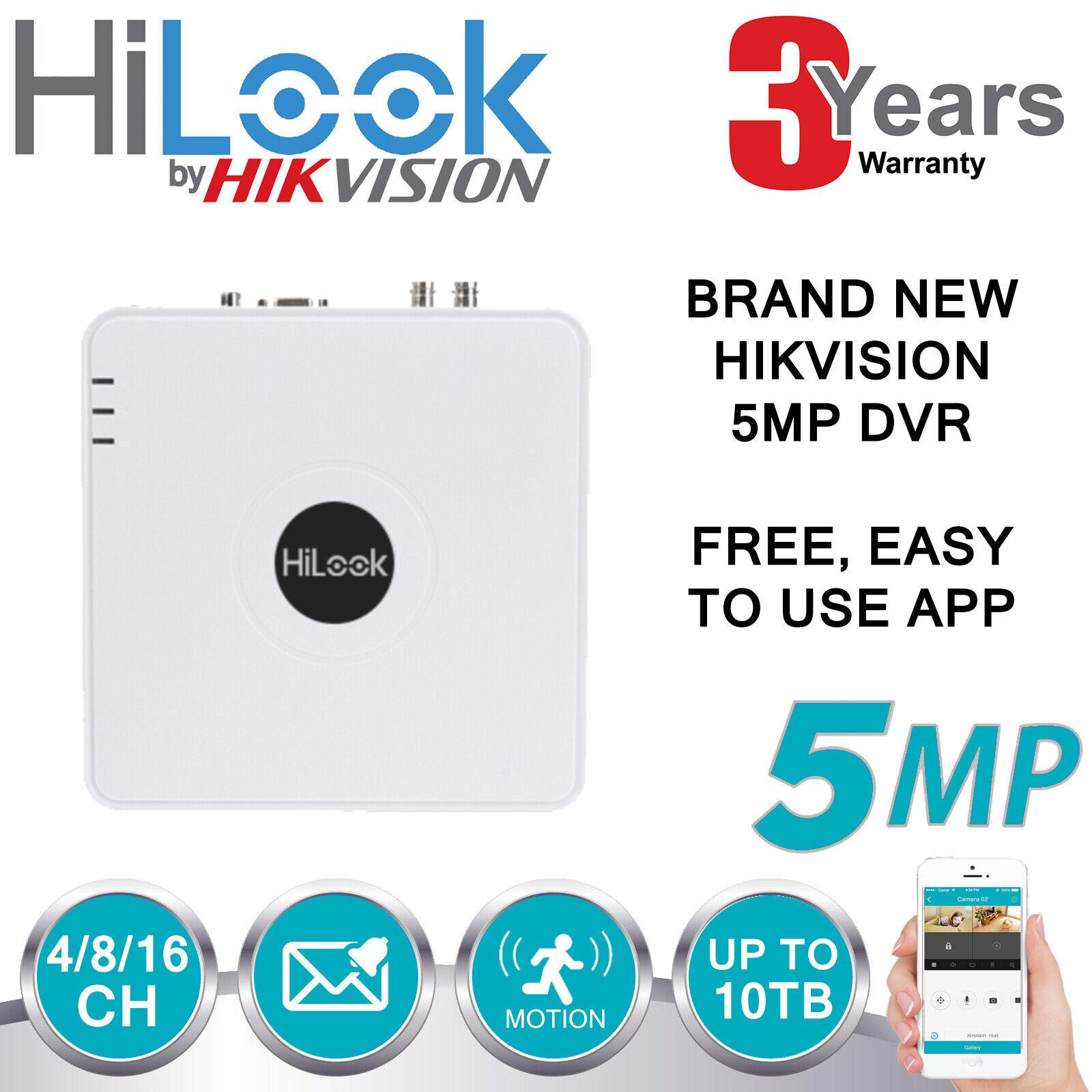 Hikvision 5MP DVR 4CH 8CH 16CH Turbo CCTV 1080P HDMI Voll HD Kanal AHD TVI CVI