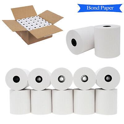 3 X 150 1-ply Bond Receipt Paper Pos Kitchen Printer Paper 50 Rolls In A Case