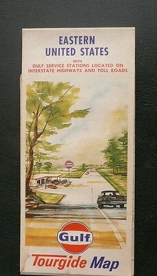 1967 Eastern United States  road map Gulf oil