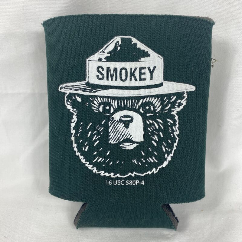 Smokey the Bear Beer Coozy Campfire Safety