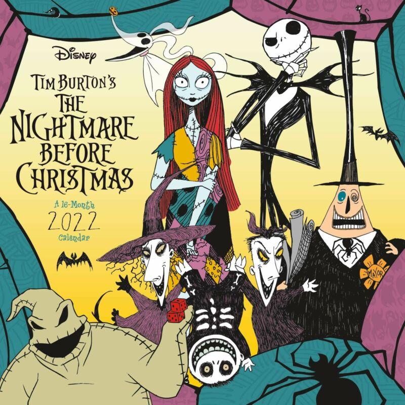 Walt Disney The Nightmare Before Christmas Art 16 Month 2022 Wall Calendar NEW
