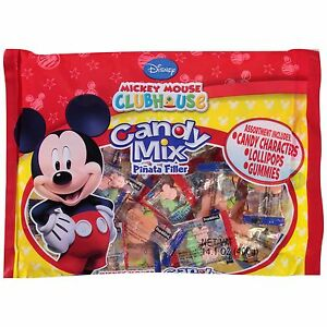 Mickey Mouse Candy Mix Piñata Filler Lollipops Gummies Party Favors
