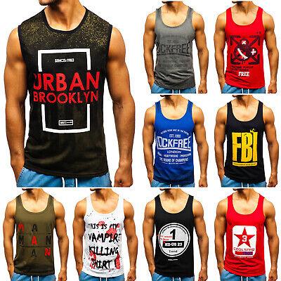 Print T-shirt (Tanktop T-Shirt Achselshirts Muskelshirt Ärmellos Herren Mix BOLF 3C3 Print WOW)