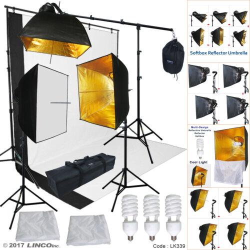 Studio Lighting Photography Video Softbox Umbrella Light Kit Peno