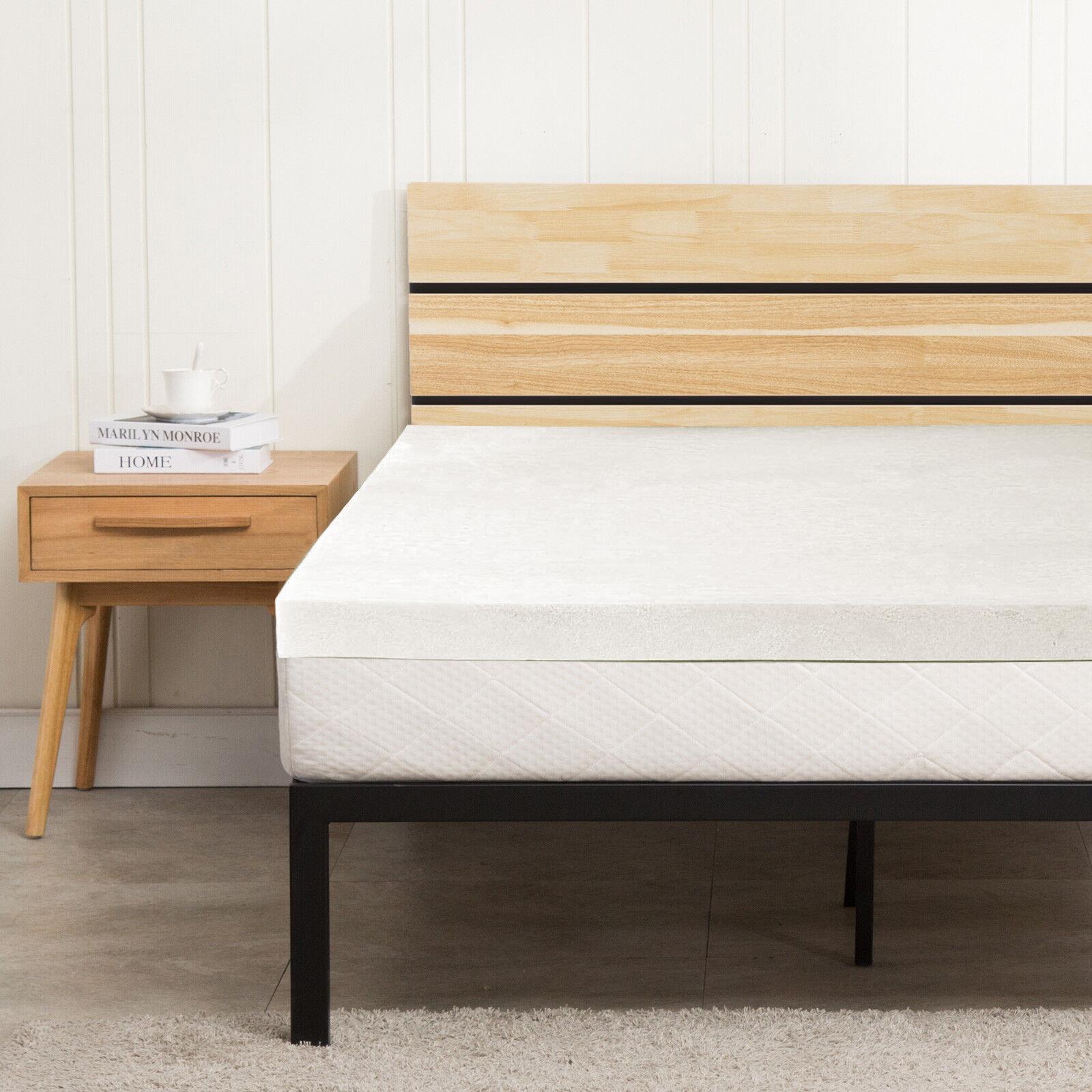 2 uenjoy comfort memory foam mattress topper twin twin xl full queen king ebay. Black Bedroom Furniture Sets. Home Design Ideas